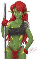 Green Girl by MistressPaco