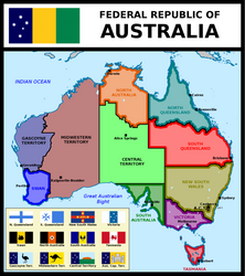Map of Federal Republic of Australia by matritum