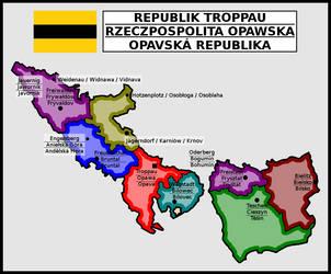 Map of Republic of Troppau/Opawa/Opava by matritum