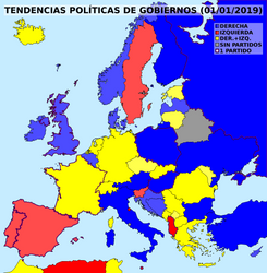 Political tendencies of European governments by matritum