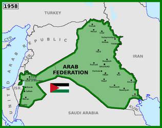 Map of Arab Federation (1958) by matritum