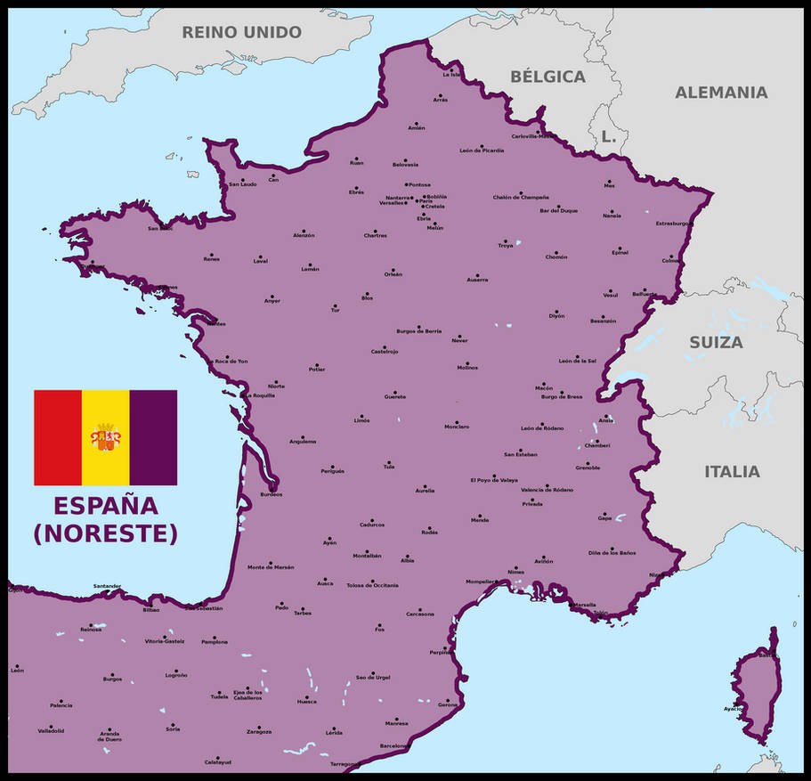 France as part of Spain by matritum