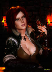 Gwent Game With Triss by Agr1on