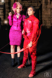 Effie Trinket and Katniss Everdeen cosplay by FLovett