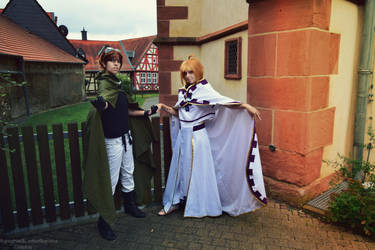 Sakura Hime and Syaoran cosplay by LadyOfBarians