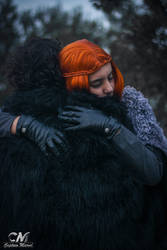 Jon Snow and Sansa Stark by LadyOfBarians