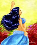 Blue Bellydancer by Ayrtha