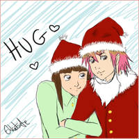Christmas hug by Kairi-Rika