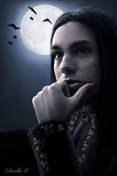 Vampire in Moonlight by VampireDarlla