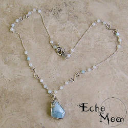 Silver Larimar Necklace by EchoMoonJewelry
