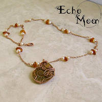 Ammonite Copper Necklace by EchoMoonJewelry