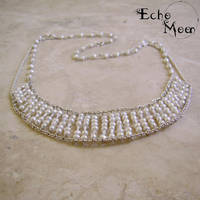 Pearl and Quartz Collar by EchoMoonJewelry