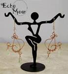 Copper Prehnite Earrings by EchoMoonJewelry