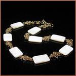 Zaria Chainmaille Bridal Necklace by EchoMoonJewelry