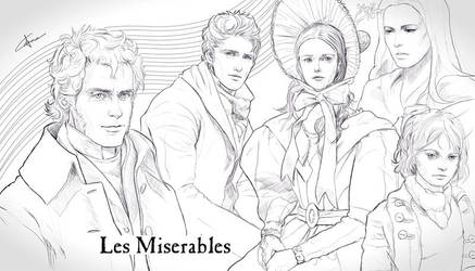 Les Miserables Sketches by GerryArthur