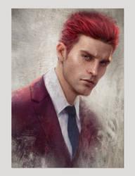 Crimson Suit by GerryArthur