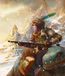The last dragoon, Kari by TylerEdlinArt