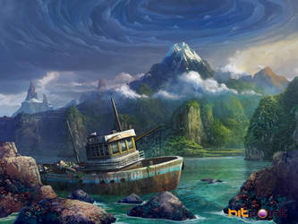 lost island by TylerEdlinArt
