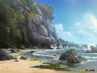 beach concept by TylerEdlinArt