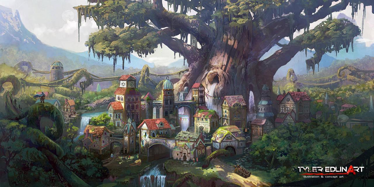 Elf City by TylerEdlinArt