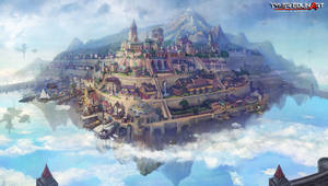 floating city kerris by TylerEdlinArt