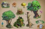 forest asset sample days of dawn by TylerEdlinArt