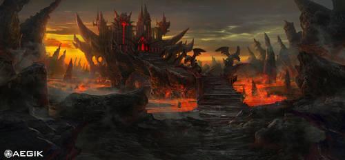 Aegik 6 tile: evil fortress! by TylerEdlinArt