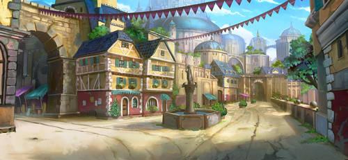 Fatecraft city tile by TylerEdlinArt