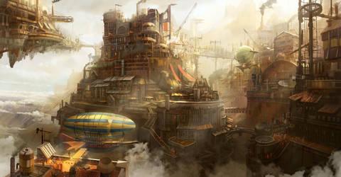steampunk concept by TylerEdlinArt