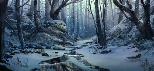 Snow Environment Scene 3 by TylerEdlinArt