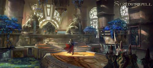Escadian Throne Room by TylerEdlinArt