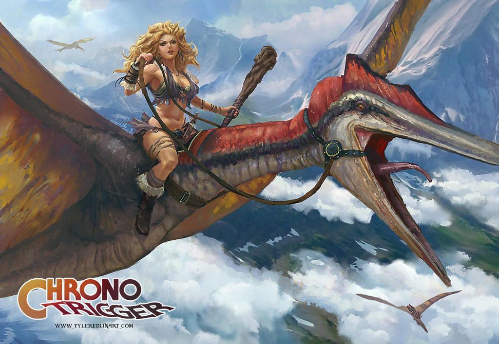 Ayla the dino rider by TylerEdlinArt