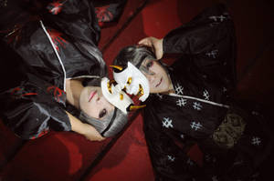 Mask of hannya: Rin and Len by Mm-miyoko