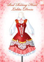 Red Riding Hood Lolita Dress by Neko-Vi