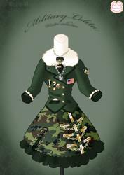 Military Lolita Winter Dress by Neko-Vi