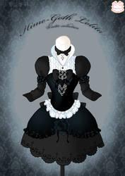 Hime-Goth Lolita Winter Dress by Neko-Vi