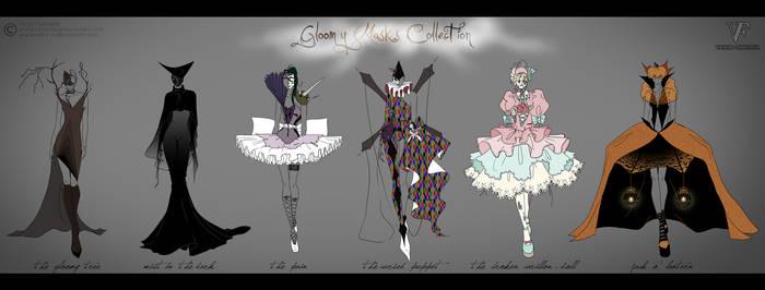 Gloomy Masks Collection by Neko-Vi