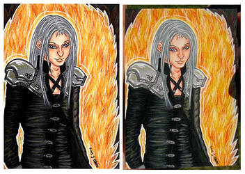 #44 Sephiroth (KakaoCard/ATC/ACEO) by Jacura