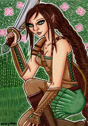#45 Erien Brethil (KakaoCard/ACEO/ATC) by Jacura
