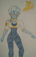 Blue Chalcedony SU AU crystal gem by kenlybop