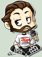 CM Punk cheeb by megomobile