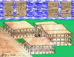 The Library of Alexandria by Jeffrey-Scott