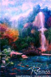 Koi pond v.2 by Rakisan-Art