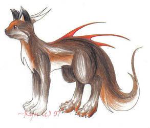 Kyril the Kitteh Dragon by silverdragon27