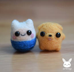 Felted Mini Finn And Jake by xxNostalgic