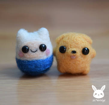 Felted Mini Finn And Jake by xxNostalgic