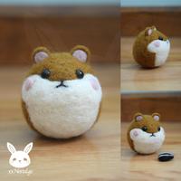 Felted Hamster by xxNostalgic