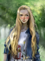 sunshine portrait by SapDash