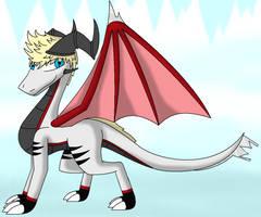 Roxas as a Dragon by SlyNoodles