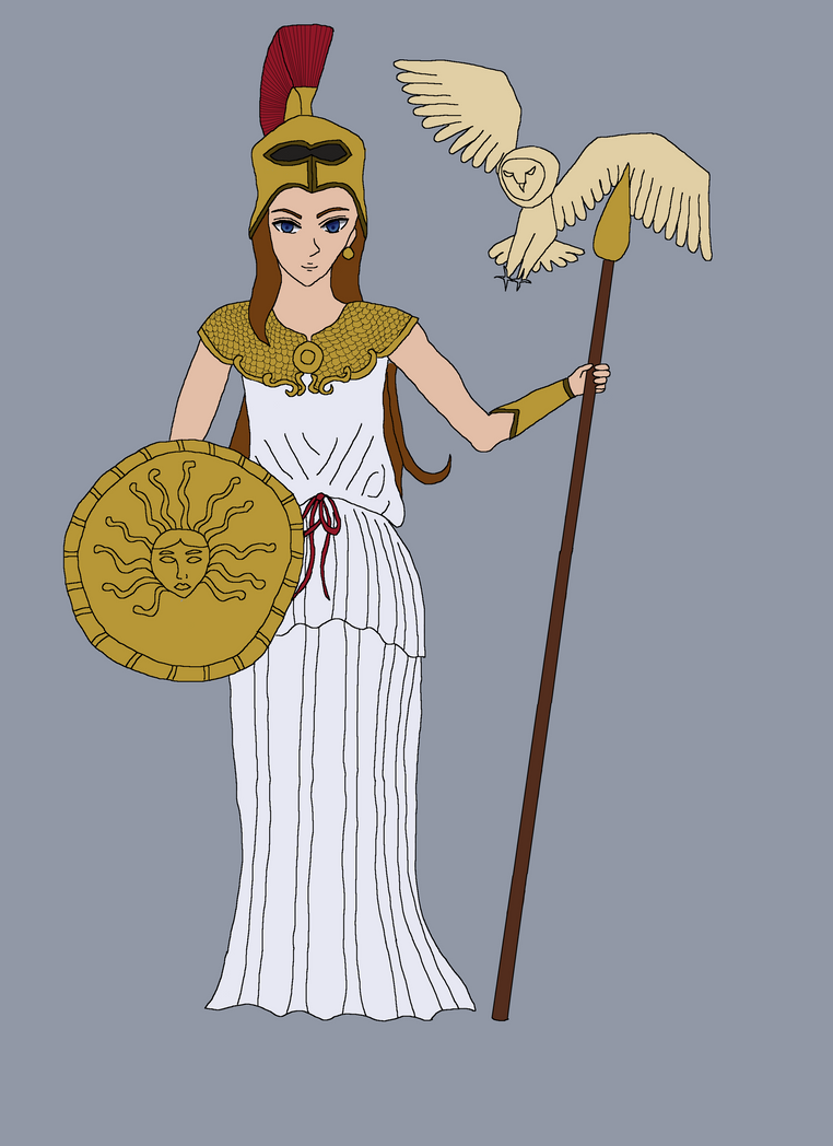 Athena with Owl WIP by bebesdupoire